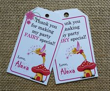 18x Personalised Fairy Tinkerbell Theme Party Favour Tags Gift Tags Birthday