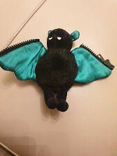 """JellyCat Retro (1999) Zippy el bate negro con alas de Peluche Peluche Verde 5"""""""