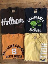 Hollister T-Shirt Lot - 4 Shirts Size Small Embroidered EUC