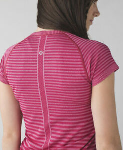 LULULEMON Run: Swiftly Tech Short Sleeve Crew T Shirt 2 Heathered Berry Pink EUC