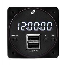 Md93 Digital Clock/Dual Usb Charging Port- Aircraft Parts Free Shipping