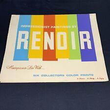 Vintage Renoir MASTERPIECES TO LIVE WITH mid-century Portfolio of Prints 4 of 6