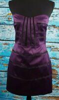 BCBGeneration Purple and Black Sleeveless Pencil Dress Women's Size 6