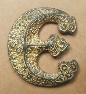 Interesting Medieval Gold Gilt artefact, 'E'. Pilgrim Badge? King Edward?