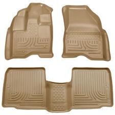 Floor Liners 2009-2016 Lincoln MKS Front & Rear Husky Mat Set Tan 98733