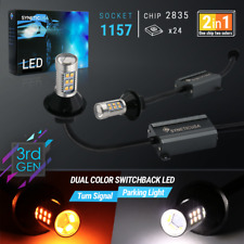 Error Free 1157 Dual Color Switchback LED Turn Signal Light Bulbs Kit