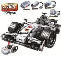 F1 Voiture Course Blocs Construction Technic Moteur Télécommande 729 Pcs Enfants