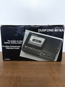 Vintage Radio Shack Duofone 8016A Telephone Recording System Used In Box Working