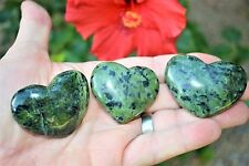 [1] MD Nephrite Inca Jade Crystal Puffy Heart / Palm Stone Reiki ZENERGY GEMS™
