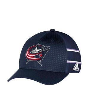 Columbus Blue Jackets NHL Adidas Unisex Navy Blue Structured Flex Cap