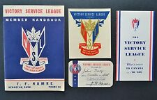 WW2 WWII Victory Service League Car Conservation Handbook Decal Card Book Canada