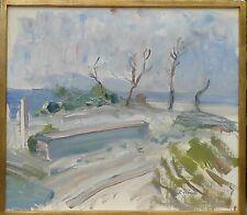 RUDOLF FLINK (SCHWEDEN 1906-1998) LANDSCHAFTSKOMPOSITION -KALMARSUND -SVERIGE