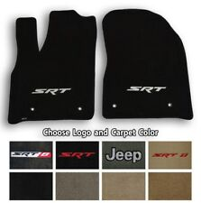 Jeep Grand Cherokee Velourtex Carpet Front Floor Mats - Choose Color & Logo