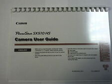 CANON POWERSHOT SX510HS PRINTED INSTRUCTION MANUAL USER GUIDE 167 PAGES