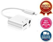 Adattatore Compatibile Con iPhone 2 in 1 Doppio Adapter Splitter Jack Cuffie 3,5
