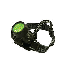 Gro1 Green LED Head Flashlight Plant Safe Night Hands Free Grow Garden Light
