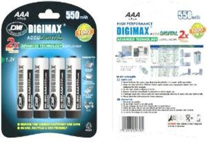 12 x Digimax AAA Rechargeable Batteries 550 mAh phone 550mAh NiMh 3 x 4 packs