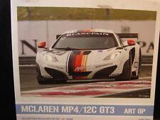 "DECALS 1/24 Mc LAREN MP4/12C GT3 ""ART GP"" 2012 - Cartograf 24D-003"