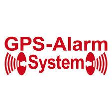 2 Stk GPS Alarm Tattoo rot invers innenklebend Pkw Kfz Auto Haus Fenster Scheibe