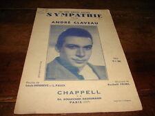 ANDRE CLAVEAU - Partition SYMPATHIE !!!!!!!!!!!