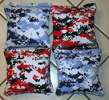 Cornhole Bags, corn hole Regulation Red & Blue Camouflage Set of 8 free shipping