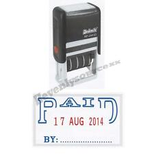 One { PAID } Deskmate Self-Inking Date Stamp Free Ship & Tracking