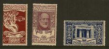 ITALY : 1922 50th Anniversary of Mazzini's Death  set  SG126-8 mint