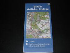 Fahrradkarte Tourenkarte Radwanderungen Deutschland Nord: Berlin östl. Umland