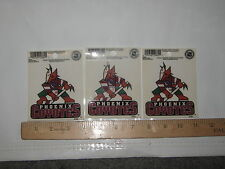 Phoenix Coyotes National Hockey League Lot of (3) REUSABLE STATIC CLING DECALS