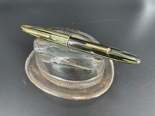 Vintage Sheaffer Fountain Pen, Marine Green Restored 14k Gold Nib Lever Fill