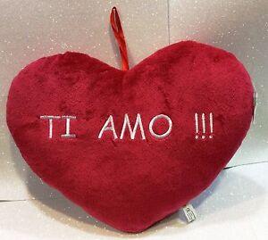 SAN VALENTINO AMORE CUORE IN PELUCHE TI AMO!!! PLUSH HEART 33 CM
