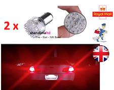 2x Rojo 1157 BAY15D P21/5W 380 LED 24 SMD luz de parada de cola de Freno Coche Lámpara Bombilla 12V