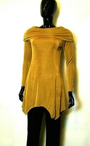JOE BROWNS GOLD SUPER SLINKY COWL NECK TUNIC TOP Sizes 10,12,16