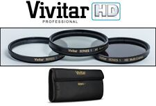 NEW 3PC HD GLASS FILTER (UV POLARIZER & FLD) KIT FOR SONY NEX-VG30H NEX-EA50UH