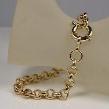 "9ct 9K YELLOW "" Gold Filled "" Prom 7mm Belcher Bracelet Xmas Gift 7"" - 9"" b323"