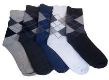 5 Pairs Mens Argyle Geometric Fashion Crew Dress Socks Shoe Size 6-11 Diamond