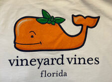 Vineyard Vines Boys Florida Orange Pocket T-shirt/Tee White XL (18)
