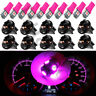 10x Pink Purple PC168 Dashboard Dash Instrument Panel Cluster LED Light Bulbs
