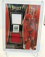 2020 Panini Select UEFA Euro Soccer Dual Jersey Red Prizm Pepe /65 Portugal MINT