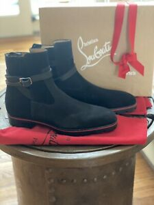 Christian louboutin Boots Men 46 Kicko Croc Black *New* Rare