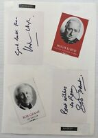 BOB GRANT & HUGH LLOYD Genuine Handsigned Signatures on 12 x 8 Page.