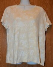 Womens Pretty Floral Croft & Barrow Cap Sleeve Shirt Size Large excellent