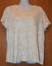 Womens Pretty Floral Croft & Barrow Cap Sleeve Shirt Size Large excellent