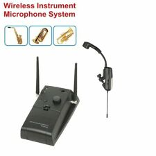 Wireless Instrument Microphone System 16 Channels uhf Mic For Saxophone Horn Tub