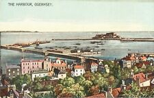 The Harbour,Guernsey-early p'card by A.Le Cheminant,Commcl. Arcade-NICE COLOUR