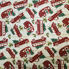Christmas 100% Cotton FQ Fat Quarter Fabric Buffalo Plaid Check Camper RV TT