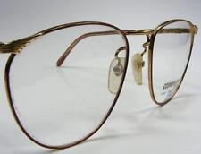 1980 Cosmo Red Gold Filigree Metal Wire Rim Women's Vtg Eyeglass Frame Large 55