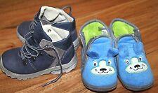 2b9233f74ce3c3 PEPINO Leder Schuhe SympalTex Gr.23 + 1Paar blaue Hausschuhe Teddybär Gr.24