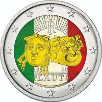 Italien 2 Euro Münze 2016 bfr Gedenkmünze Tito Maccio Plauto in Farbe