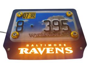 Baltimore Ravens - LED License Plate Holder (US Version) for motorcycles